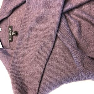 Eileen Fisher Sweater Shrug Plum
